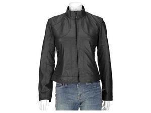 Alvina Exotic Sheep Skin Leather Jacket