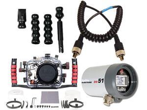 Canon 7D Underwater DSLR Housing 6871.07 & DS51 Strobe Package 4044.4 by Ikelite