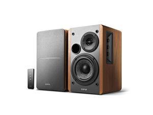 Edifier R1280T Powered Bookshelf Speakers - 2.0 Active Near Field Monitor - Studio Monitor Speakers - Wooden Enclosure - 42 Watts RMS