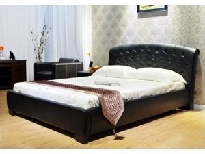 Greatime B1064 Queen Black Platform Bed