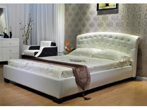 Greatime B1064 Full  White Platform Bed