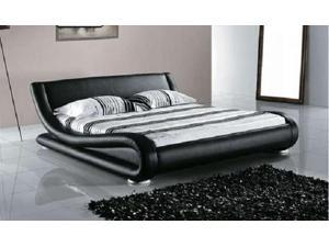Greatime B1070 QUEEN  Black Comtemparay Upholstered Bed