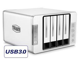 TerraMaster D4-310 USB3.0 Type C External Hard Drive 4-Bay RAID Enclosure Supports 2 Sets of RAID Storage with 2 USB3.0 HUB's (Diskless)