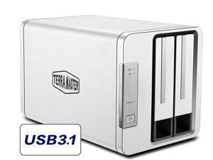 TerraMaster USB3.1 External Hard Drive Enclosure USB Type C D2-310 USB3.1 (Gen 2,10Gbps) SUPERSPEED+ 2 bay RAID Storage Support RAID 0/RAID1/JBOD/SINGLE Compatible with USB3.0 port (Diskless)
