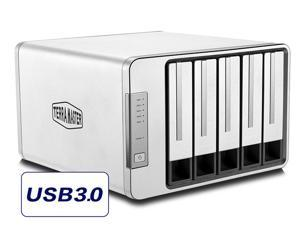 TerraMaster D5-300 USB3.0 Type C 5-Bay Raid Enclosure USB3.0 (5Gbps) Support RAID 0, RAID 5 Hard Drive RAID Storage (Diskless)