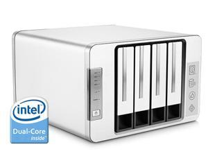 NOONTEC-TerraMaster F4-220 NAS Server 4-Bay Intel Dual Core 2.41GHz 2GB RAM Network RAID Storage for Small/Medium Business (Diskless)