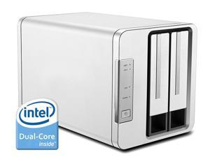 NOONTEC-TerraMaster F2-220 NAS Server 2-Bay Intel Dual Core 2.41GHz 2GB RAM Network RAID Storage for Small/Medium Business (Diskless)