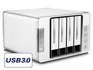 NOONTEC-TerraMaster D4-310 USB3.0 Type C External Hard Drive 4-Bay RAID Enclosure Supports 2 Sets of RAID Storage with 2 USB3.0 HUB's (Diskless)