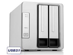 NOONTEC-TerraMaster D2-310 USB Type C External Hard Drive RAID Enclosure USB3.1 (Gen2, 10Gbps) SUPERSPEED+ 2-Bay RAID Storage (Diskless)
