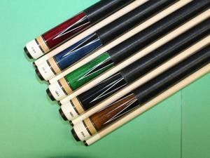 "Set of 5 Brand New Aska L4 Pool Cue Sticks. Cadanian Hard Rock Maple, 58"" length, 13mm Hard Le Pro Long Lasting Tip. Black Nylon Wrap. Black, Blue, Brown, Green, Red. Mixed Weights"