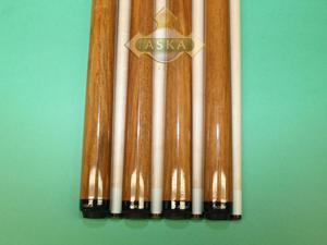 "Set of 4 Brand New Aska SP1 Malaswood Sneaky Pete Billiard Pool Cues, 58"" Hard Rock Canadian Maple, 13mm Hard Le Pro Tip, Mixed Weights. Perfect Quality. Improve Your Game Room"