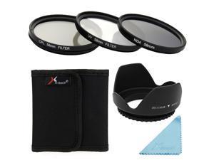 XCSource UV CPL ND4 Filter Set + Lens Hood 58mm For Canon 550D 500D 450D 400D 350D LF282