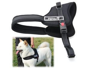 Soft Padded Adjustable Pet Harness Vest for Cat or Dog Training or Walking Black S PS016