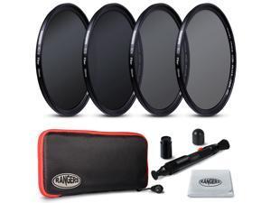 Rangers 4pcs ND2 ND4 ND8 ND16 Filter Set 58mm Neutral Density Slim HD MRC RA18