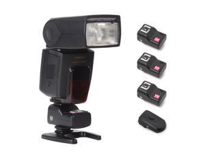 XCSOURCE® Wireless Flash Trigger Hot Shoe + 3 Receiver for Canon Nikon Olympus Sigma LF107