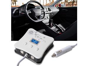 XCSOURCE®  Universal 1 to 3 Car Cigarette Lighter Splitter + 4 USB Ports Charger + Digital Voltmeter for 12V-24V Car Vehicle Motorbike Boat Tractor MA728