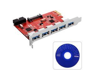 USB3.0 3.0 (5x externally) PCI Express expansion card Controller PCIe AC317