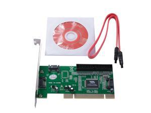 XCSOURCE 3 Port SATA + IDE PCI Controller RAID Card Adapter VIA6421 Chipset for HDD AC388