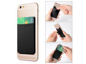 2pcs Elastic Lycra Cell Phone Wallet Credit ID Card Holder Pocket Stick On AC418