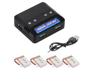 XCSOURCE 4in1 Charger & 3.7V 800mAh 25C V931 Syma X5C X5SC X5SW Quadcopter Battery BC535