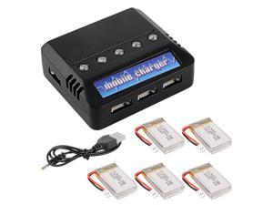 XCSOURCE 5in1 Charger & 3.7V 800mAh 25C V931 Syma X5C X5SC X5SW Quadcopter Battery BC536