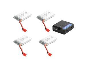 4x 3.7V 720mAh 25C Lipo Battery + 4 in 1 USB Battery Charger For Syma X5HC BC595