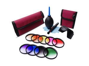 XCSOURCE 58mm 9pcs Graduated Color Filter Kit For Canon Rebel T1i T2i T3i 600D 550D LF498