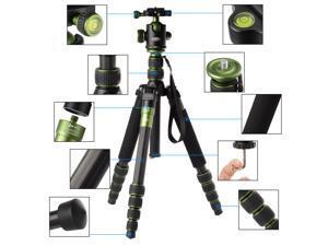 Rangers Q667C Portable Carbon Fiber Tripod for SLR Cameras
