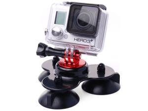 Hot Car Triangle Suction Cup + Tripod Mount + Screws for Gopro Hero 2 3 3+ OS144