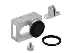 Aluminum Protective Shell Frame Case W/Mount lens cover f XIAOMI Yi Camera OS450