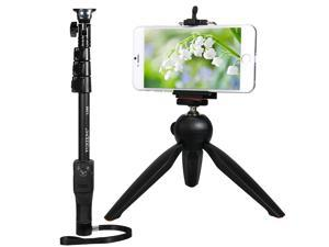 YunTeng 1288 Extendable Bluetooth Shooting Handheld Monopod + Mini Tripod + Cellphone Clip for Digital Camera iPhone 6S, 6, 5S, 5C, 5, 4S, Galaxy S5, S4, S3, <b>Note</b> 3,2 Nexus 4, HTC One, One 2 an