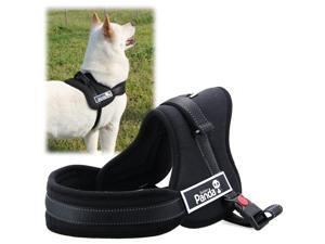 Soft Padded Adjustable Pet Harness Vest for Cat or Dog Training or Walking Black M PS017