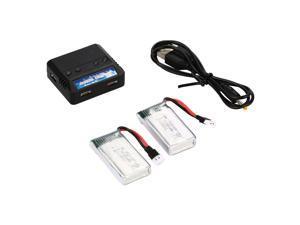 Xcsource® 2 4 PCS 3.7V 380mAh 25C Lipo Battery Charge for Hubsan X4 H107D L C Ladybird RC BC514