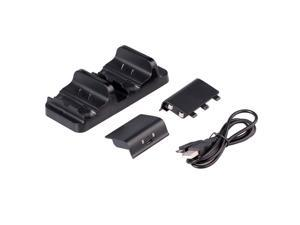 Xcsource® Dual Charging Dock Charger+2 Replacement Battery For Xbox One Controllers BC493