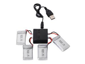 XCSOURCE® 4x 3.7V 700mAh Battery + 4in1 USB Charger for Syma X5C X5A F5C Drone Gifts RC168