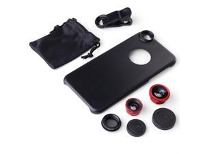 Clip Small Wide + Macro + 180 Fisheye +CPL Lens + Case Cover for iPhone 6 DC551