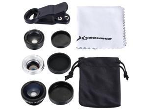 Fisheye Wide Macro 2x Telephoto Selfie Zoom Lens for iPhone 5s 6 6S 6 Plus DC585