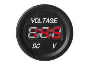 XCSOURCE®  DC 12-24V Red LED Digital Display Voltmeter Round Panel for Car Motorcycle Boat Marine BI190