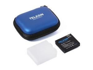 TELESIN® Telesin Portable Mini Protective Storage Collection Bag Camera Carry Case Small Pocket with Zipper for Xiaoyi Blue OS494