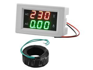 XCSOURCE®  AC 130-500V 50A Digital Current Meter Voltage Ammeter Voltmeter Display White with AC Current Transformer MA392