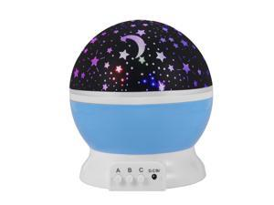 XCSOURCE®  Starry Night Light Lamp Romantic 3 Modes Colorful LED Star Moon Sky Rotating Starlight Projector for Children Kids Baby Bedroom (Blue) LD726