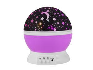 XCSOURCE®  Starry Night Light Lamp Romantic 3 Modes Colorful LED Star Moon Sky Rotating Starlight Projector for Children Kids Baby Bedroom (Pink) LD727