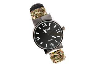 XCSOURCE®  Paracord Outdoor Watch With Survival Compass Whistle Fire Starter Watchband Bracelet Emergency Tool For Men & Women Camouflage OS563