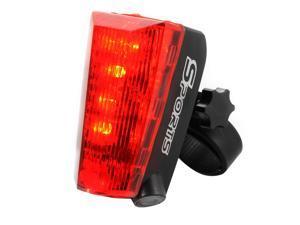 XCSOURCE®  Bicycle Cycling Taillight Bike Warning Rear Light 5 LED 2 Laser Beams Logo Projection Waterproof CS332