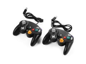 XCSOURCE®  2pcs Wired Game Controller Gamepad Joystick for Nintendo Wii GameCube NGC GC Black AC442