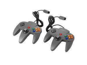 XCSOURCE®  2pcs Wired Game Controller Gamepad Joystick for Nintendo 64 N64 - Gray AC441