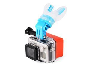 TELESIN® TELESIN Breathable Mouth Mount (Blue) + Floaty for Surfing Skating, Gopro Cameras Hero 4/3+/3/2/1, XiaoMi XiaoYi, SJCAM OS585