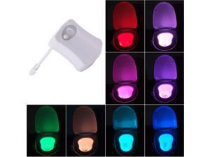 XCSOURCE®  Toilet LED Light Bowl Motion Detection Sensor Automatic Bathroom Seat Nightlight Lamp 8 Colors Changing AH192