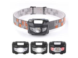 XCSOURCE Sunix Super Bright Mini LED Headlamp CREE R3 + 2 Red LED Outdoor Sports Headlight Helmet with Adjustable Headband (Black) SU718