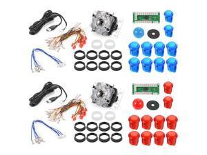 XCSOURCE®  2 Sets Zero Delay Arcade Game USB Encoder PC LED Joystick DIY Kit for Mame Jamma & Other Fighting Games AC492